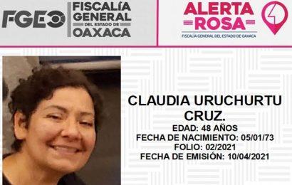 Inicia FGEO nueva etapa de plan de búsqueda de Claudia Uruchurtu Cruz