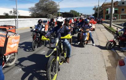 Celebran día del repartidor con una rodada en la ciudad de Oaxaca