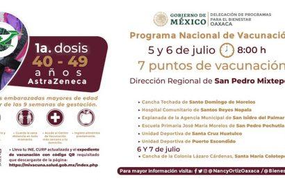 En el Istmo y la Costa vacunarán este lunes a adultos de 40 a 49 años contra la COVID