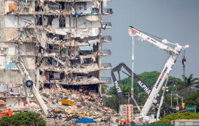 Aumentan a 28 los muertos por derrumbe en edificio de Miami