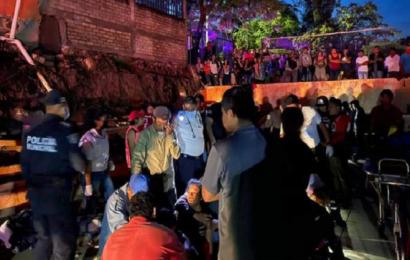 Colapsa barda en Yosocuta; mueren 2 personas