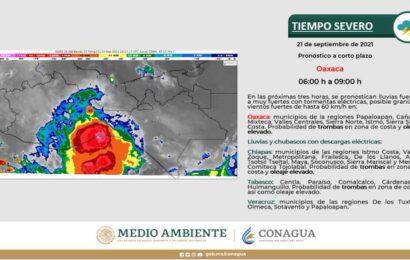 Emite Conagua alerta por tiempo severo para Oaxaca